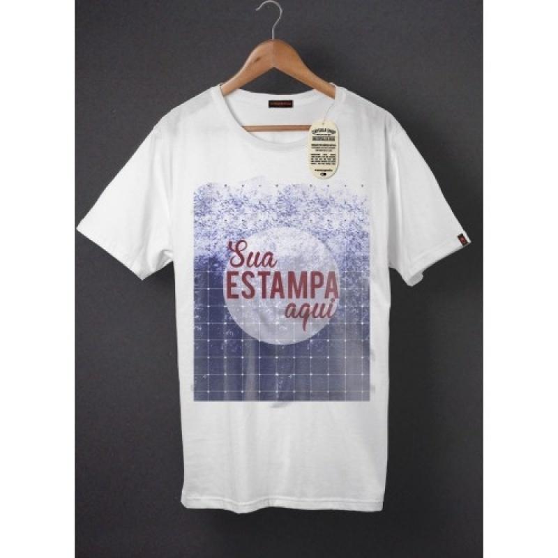 Onde Encontro Camiseta Promocional Branca Mooca - Camiseta Feminina Promocional