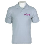 camisa polo personalizada com bordado Francisco Morato