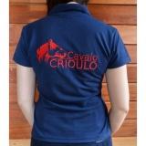 camisa polo personalizada para eventos Parque Anhembi