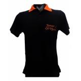 camisa polo preta personalizada São Domingos