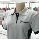 quanto custa camisa polo personalizada com bordado Santa Efigênia