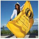 toalha de praia personalizada com logo Suzano