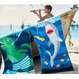 toalhas de praia personalizada com logo Água Funda
