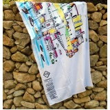 toalhas de praia promocional personalizada Praça da Arvore